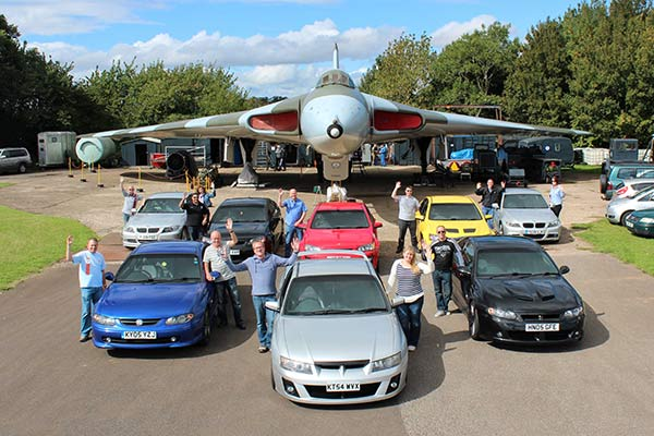 The eight visiting 'muscle cars'