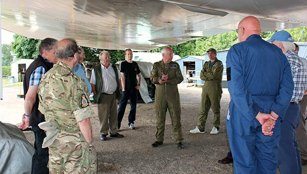 Charles gives the group an introduction to XM655